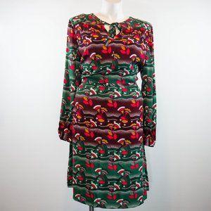 Boden Long Sleeve Boho Tie Neck Dress Size 18L
